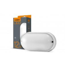 LED светильник (ЖКХ) овальный VIDEX 12W 5000K 220V белый