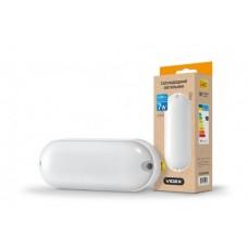 LED светильник (ЖКХ) овальный VIDEX 7W 5000K 220V белый
