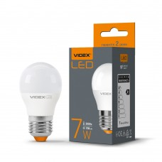 LED лампа VIDEX G45e 7W E27 3000K