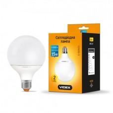 LED лампа VIDEX G95e 15W E27 3000K