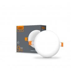 LED светильник безрамочный круглый VIDEX 9W 4100K