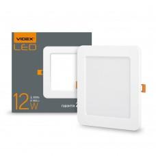 LED светильник встраиваемый квадрат VIDEX 12W 5000K