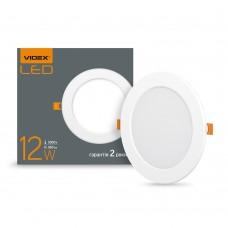 LED светильник встраиваемый круглый VIDEX 12W 5000K