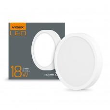 LED светильник накладной круг VIDEX 18W 5000K