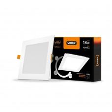 LED светильник встраиваемый квадрат VIDEX 18W