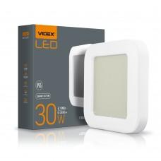 LED светильник ART IP65 квадратный VIDEX 30W 5000K