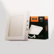 LED светильник накладной квадрат VIDEX 18W 5000K 220V с регулировкой яркости