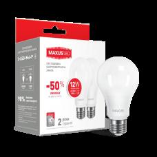 Набор LED ламп MAXUS A65 12W теплый свет E27 (по 2 шт.) (2-LED-563-P)