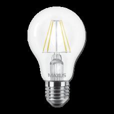 LED лампа MAXUS (филамент), А60, 8W, яркий свет,E27 (1-LED-566) (NEW)
