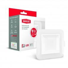 Точечный светодиодный светильник MAXUS 3-step 9W 3000/3500/4100K квадратный (1-MAX-01-3-SDL-09-S)
