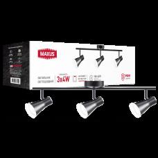 Спотовый светильник MAXUS MSL-02C 3x4W 4100K (черный)