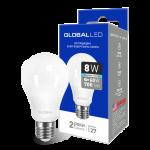 LED лампа GLOBAL A60 8W мягкий свет 220V E27 AL (1-GBL-161) (NEW)